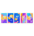 trendy vertical colored banner for trade vector image