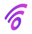 wifi sign icon isometric style vector image vector image