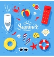 Summertime top view vector image