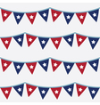 4th july seamless bunting pattern vector image