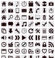 80 different web icons vector image vector image