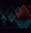abstract dark background with rhombuses vector image vector image