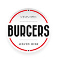 burgers vintage stamp black sign vector image