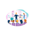 business coach meeting conference with employees vector image