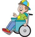 Cartoon Boy in a Wheelchair vector image