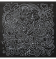 Cartoon hand-drawn Love Doodles Chalkboard vector image vector image