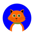 Cartoon Red Cat in Circle vector image vector image