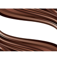 chocolate waves vector image vector image