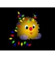 Christmas cartoon character tongue garland horns vector image vector image
