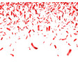 christmas valentine s day red confetti on vector image vector image