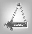closed sign pencil sketch vector image vector image