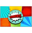 comic book colorful composition vector image vector image