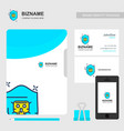 company brochure with company logo and stylish vector image