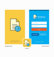 company task on time splash screen and login page vector image
