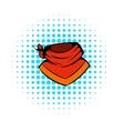 cowboy neckerchief icon comics style vector image