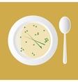cream soup vector image
