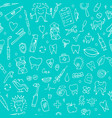 dental seamless pattern sketch for your design vector image vector image