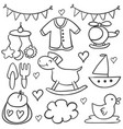 doodle of baby element collection stock vector image vector image