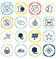ecology icons set with solar energy nature vector image vector image
