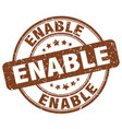 enable brown grunge stamp vector image vector image