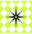 Floor ceramic tiles pattern green with black star vector image