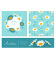flowers cards set chamomile background daisy vector image vector image