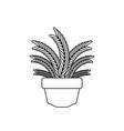 foliage leaves pot plants flat fill vector image vector image