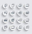 gadgets modern devices line icons set vector image vector image