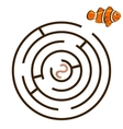 Game labyrinth find a way clownfish vector image vector image