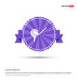 golf bat icon - purple ribbon banner vector image