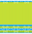 green background with decorative ornaments vector image