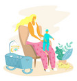 happy motherhood bacare concept for web vector image vector image