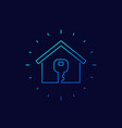 home and key line icon art vector image vector image