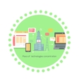 Icon Flat Place of Technologies Concentration vector image vector image