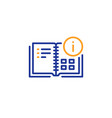 instruction info line icon technical information vector image