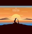international yoga day banner vector image vector image