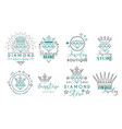 jewelry logo set for jewelry stor vector image vector image