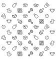 kids stuff pattern vector image vector image
