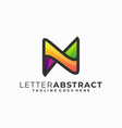 letter n colorful design template vector image