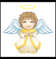 little angel in white isolated vector image vector image
