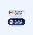 made in canada sign in two color styles vector image vector image