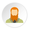 Man with beard avatar icon flat style vector image vector image
