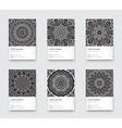 Mandala Black and White Graphic Trendy Vertical vector image