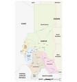 map western sudanese region darfur vector image