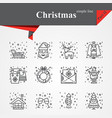 modern thin line icons set for holiday vector image