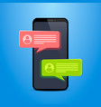 phone text message vector image vector image