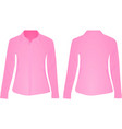 pink women shirt vector image