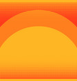pop art background orange in red color sunset vector image vector image