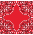 Red lace seamless pattern
