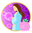 saving for pregnancy vector image